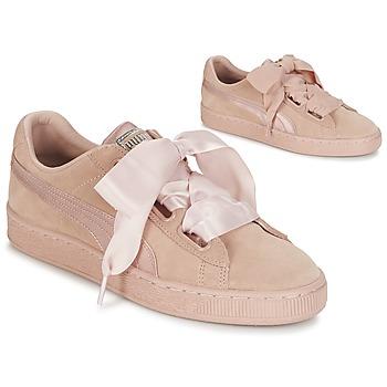 Skor Dam Sneakers Puma W SUEDE HEART EP Rosa