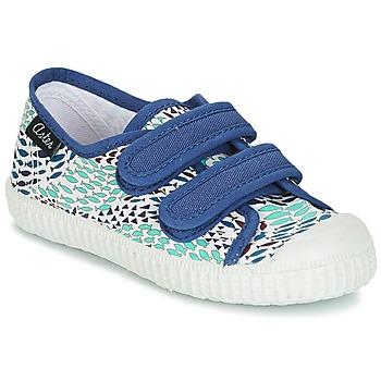 Skor Pojk Sneakers Aster MICKY Vit / Blå