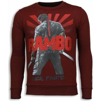 textil Herr Sweatshirts Local Fanatic Rambo Rhinestone A Bordeaux