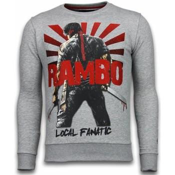 textil Herr Sweatshirts Local Fanatic Rambo Rhinestone A Grå