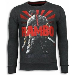 textil Herr Sweatshirts Local Fanatic Rambo Rhinestone Stenkol Grå