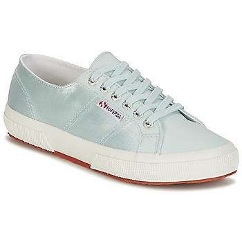 Skor Dam Sneakers Superga 2750 SATIN W Blå / Silver