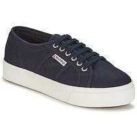 Skor Dam Sneakers Superga 2730 COTU Marin / Vit