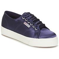 Skor Dam Sneakers Superga 2730 SATIN W Marin