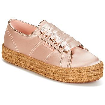 Skor Dam Sneakers Superga 2730 SATIN COTMETROPE W Rosa