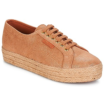 Skor Dam Sneakers Superga 2730 LAME DEGRADE W Brun / Rosa / Guld