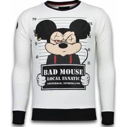 textil Herr Sweatshirts Local Fanatic State Prison Bad Mouse Rhinestone Vit