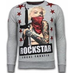 textil Herr Sweatshirts Local Fanatic Marilyn Rockstar Rhinestone Grå