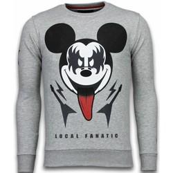 textil Herr Sweatshirts Local Fanatic Kiss My Mickey Rhinestone B Blå