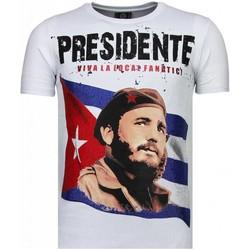 textil Herr T-shirts Local Fanatic Presidente Rhinestone Vit