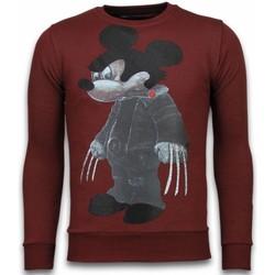 textil Herr Sweatshirts Local Fanatic Bad Mouse Smoking Rhinestone Bordeaux