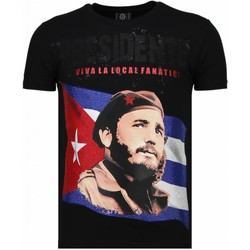 textil Herr T-shirts Local Fanatic Presidente Rhinestone Svart