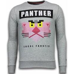 textil Herr Sweatshirts Local Fanatic Pink Panther Rhinestone Grå