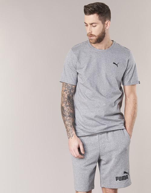 textil Herr T-shirts Puma ESS TEE Grå