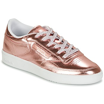 Skor Dam Sneakers Reebok Classic CLUB C 85 S SHINE Rosa / Metallfärg