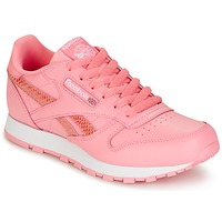 Skor Flickor Sneakers Reebok Classic CLASSIC LEATHER SPRING Rosa