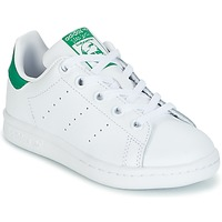 Skor Barn Sneakers adidas Originals STAN SMITH C Vit / Grön
