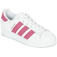 Skor Flick Sneakers adidas Originals SUPERSTAR J Vit / Rosa