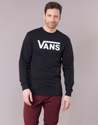 textil Herr Långärmade T-shirts Vans VANS CLASSIC Svart