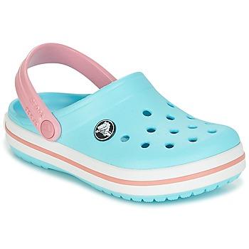 Skor Flickor Träskor Crocs Crocband Clog Kids Blå / Rosa