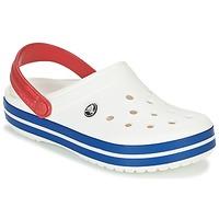 Skor Träskor Crocs CROCBAND Vit / Blå / Röd