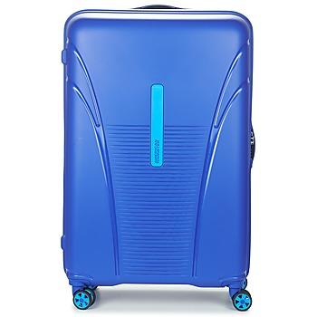 Väskor Hårda resväskor American Tourister SKYTRACER 77CM 4R Blå