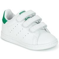 Skor Barn Sneakers adidas Originals STAN SMITH CF I Vit / Grön