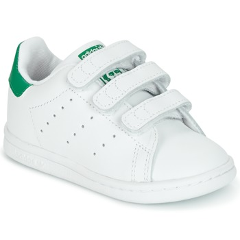 Skor Barn Sneakers adidas Originals STAN SMITH CF I Vit / Grön