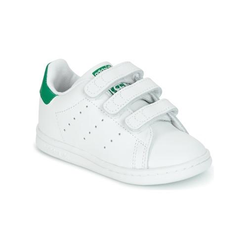 36d498dd adidas Originals STAN SMITH CF I Vit / Grön - Fri frakt | Spartoo.se ...