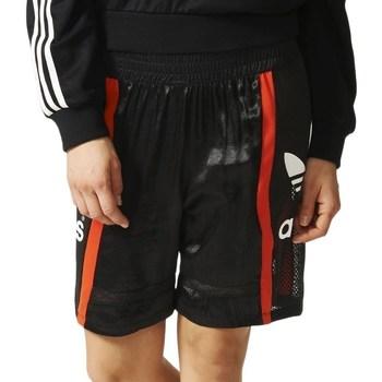 textil Dam Shorts / Bermudas adidas Originals Basketball Baggy Svarta, Röda