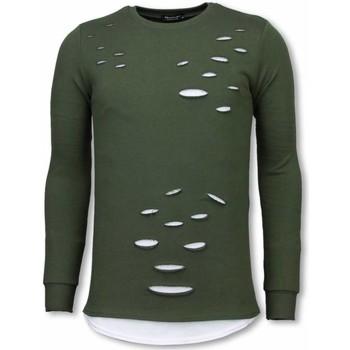 textil Herr Sweatshirts Tony Backer Longfit Aged Look UPTG Grön