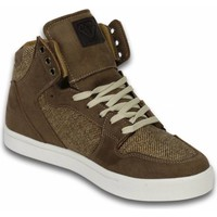 Skor Herr Höga sneakers Cash Money Höst Vinter Skor Sneakers High Riff Taupe Beige