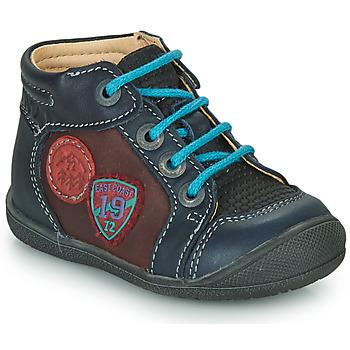 Skor Pojkar Boots Catimini REGLISSE Marin-bordeaux