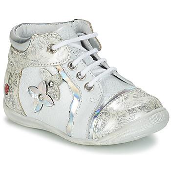 Skor Flickor Boots GBB SONIA Vit / Silver