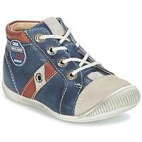 Skor Pojk Sneakers GBB SILVIO Marin / Brun