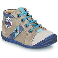Skor Pojkar Boots GBB SILVIO Beige / Blå