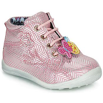 Skor Flickor Boots Catimini SALAMANDRE Rosa-silver