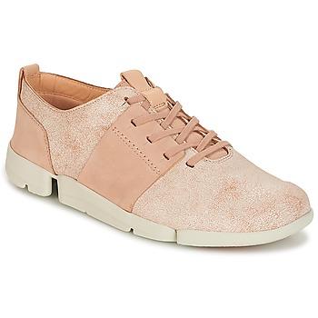 Skor Dam Sneakers Clarks TRI CAITLIN Rosa