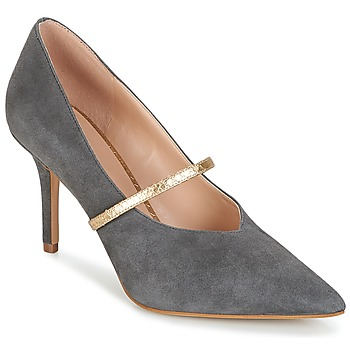 Skor Dam Pumps KG by Kurt Geiger V-CUT-MID-COURT-WITH-STRAP-GREY Grå