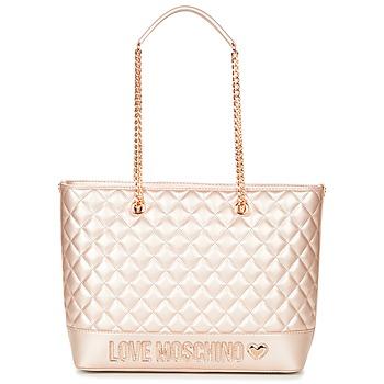 Väskor Dam Shoppingväskor Love Moschino JC4003PP15 Rosa / Guldfärgad