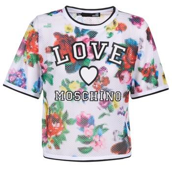 textil Dam Blusar Love Moschino W4G2801 Vit / Flerfärgad