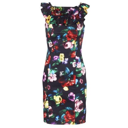 textil Dam Korta klänningar Love Moschino WVG3100 Svart / Flerfärgad