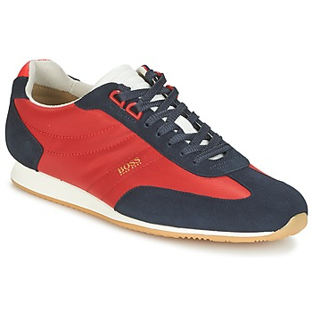 Skor Herr Sneakers Hugo Boss Orange ORLANDO LOW PROFILE Röd / Marin