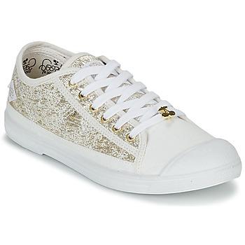 Skor Dam Sneakers Le Temps des Cerises BASIC 02 Guldfärgad