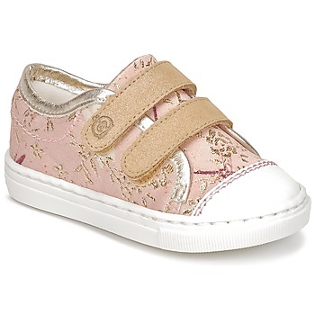 Skor Flickor Sneakers Citrouille et Compagnie INACUFI Rosa / Guldfärgad