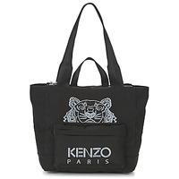 Väskor Dam Shoppingväskor Kenzo KANVAS TIGER TOTE LARGE Svart