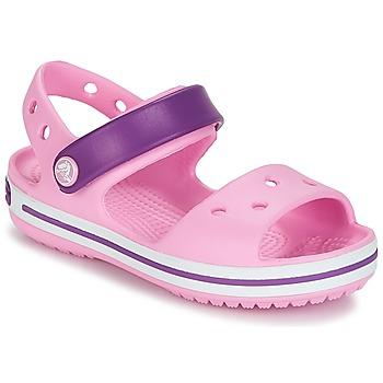 Skor Flickor Sandaler Crocs Crocband Sandal Kids Rosa / Lila