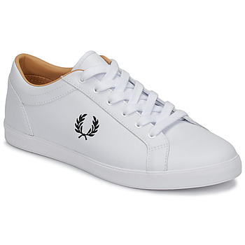 Skor Herr Sneakers Fred Perry BASELINE LEATHER Vit