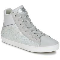 Skor Flickor Höga sneakers Geox J KILWI G. H Grå / Silver