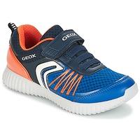 Skor Pojk Sneakers Geox J WAVINESS B.C Marin / Orange